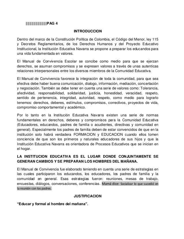 |||||||||||||||||||||PAG 4INTRODUCCIONDentro del marco de la Constitución Política de Colombia, el Código del Menor, ley 1...