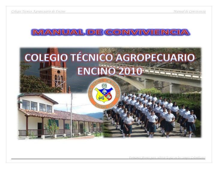 Colegio Técnico Agropecuario de Encino                                       Manual de Convivencia                        ...