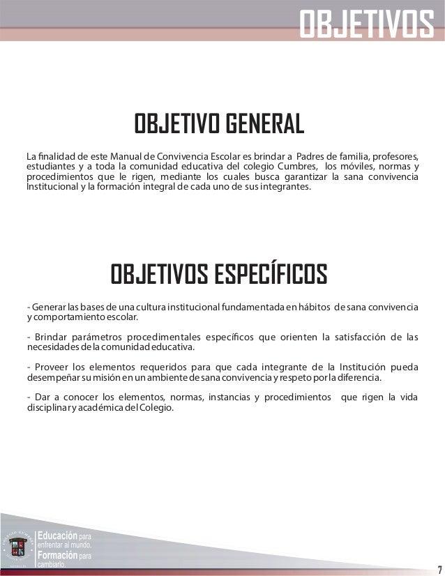 Colegio cumbres manual de convivencia 2014 for Objetivo general de un vivero