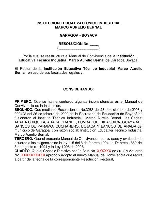INSTITUCION EDUCATIVATÉCNICO INDUSTRIAL                      MARCO AURELIO BERNAL                            GARAGOA - BOY...