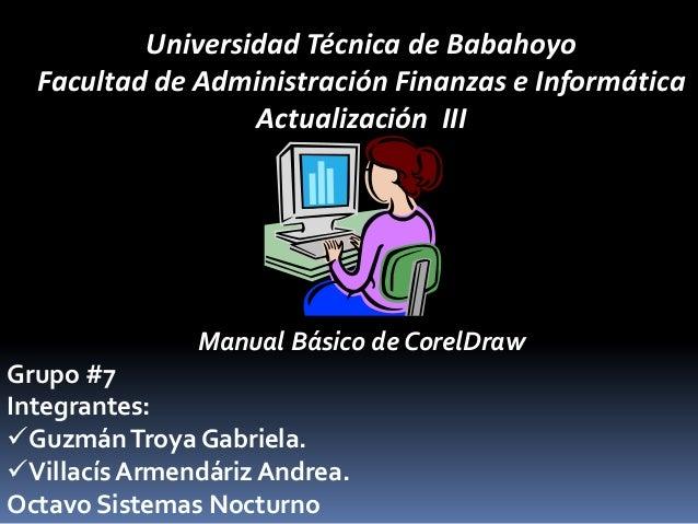 Universidad Técnica de Babahoyo  Facultad de Administración Finanzas e Informática                  Actualización III     ...
