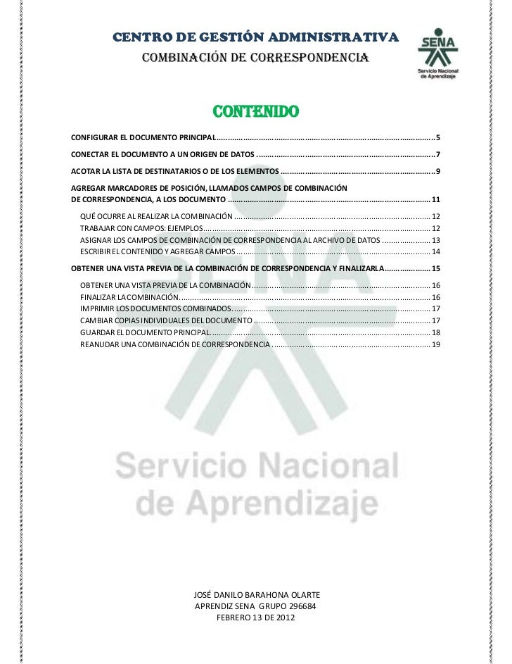 Manual de correspondencia pdf