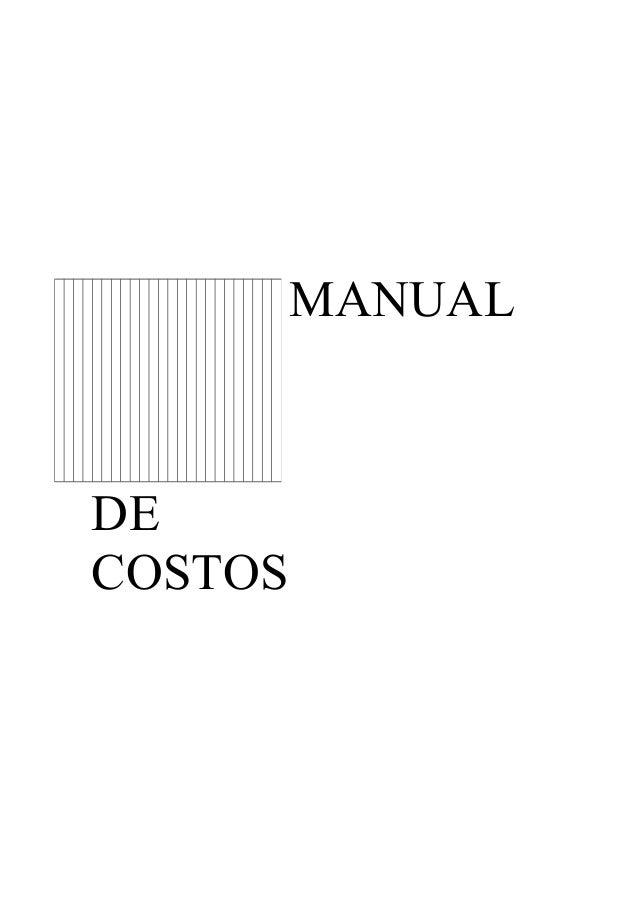Manual de costos