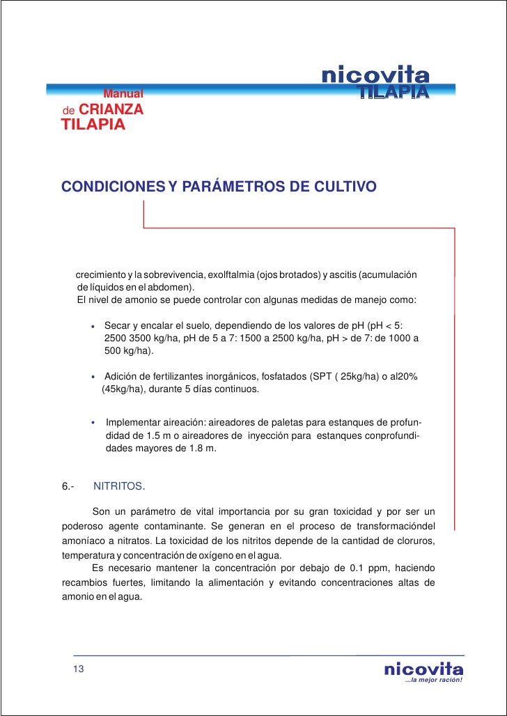 Manual de crianza de tilapia for Aireadores para estanques piscicolas