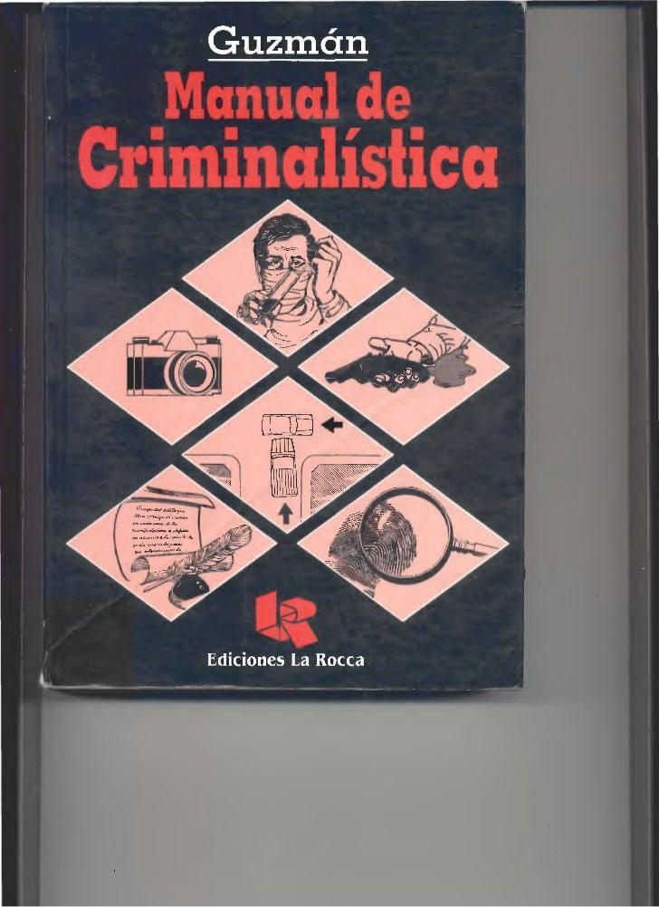 Manual de criminalistica pdf for Manual de viveros forestales pdf