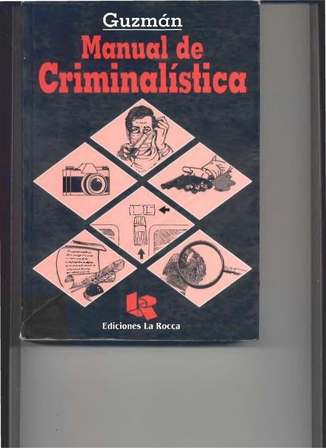 Manual deCrintinalistica