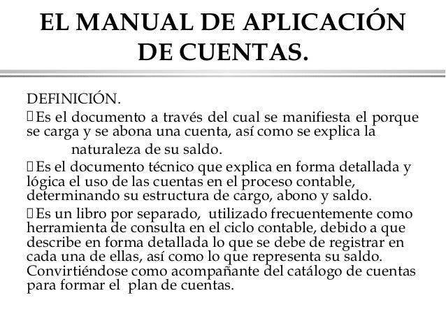 Resultado de imagen para MANUAL DE APLICACION DEL CATALOGO DE CUENTAS