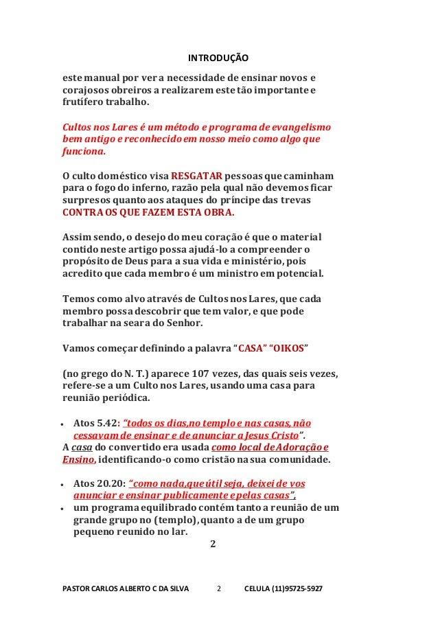MANUAL DE CULTO NAS CASA  Slide 2