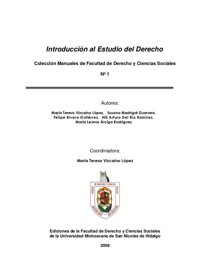 Introducción al Estudio del DerechoColección Manuales de Facultad de Derecho y Ciencias Sociales                          ...