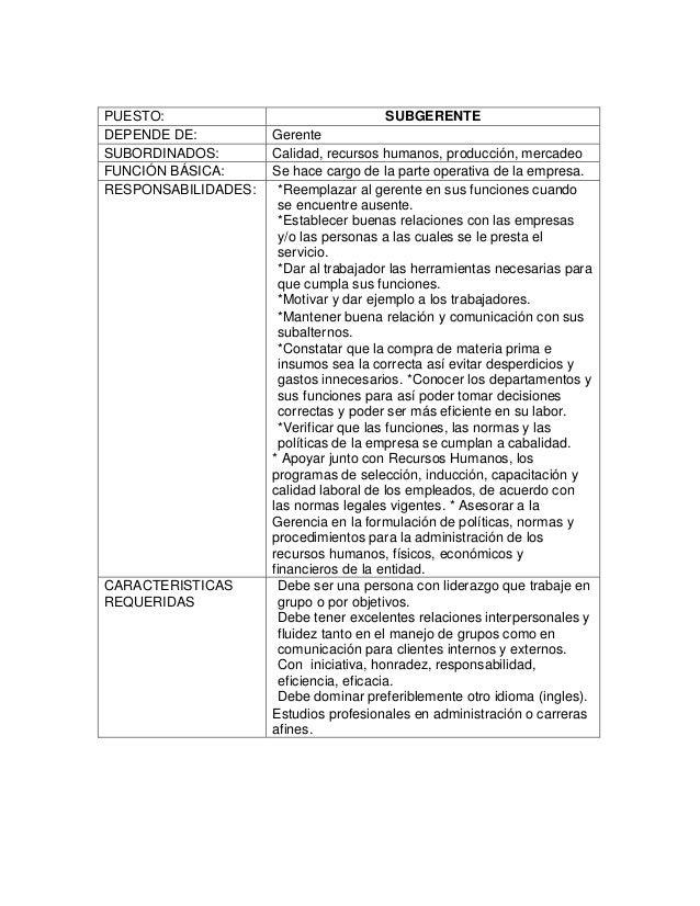 Manual de descripcion de puestos