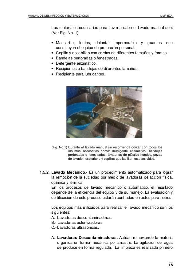 Manual de desinfecci n y esterilizaci n for Manual de limpieza y desinfeccion en restaurantes