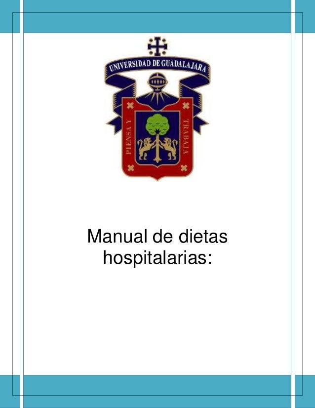 Manual de dietas hospitalarias: