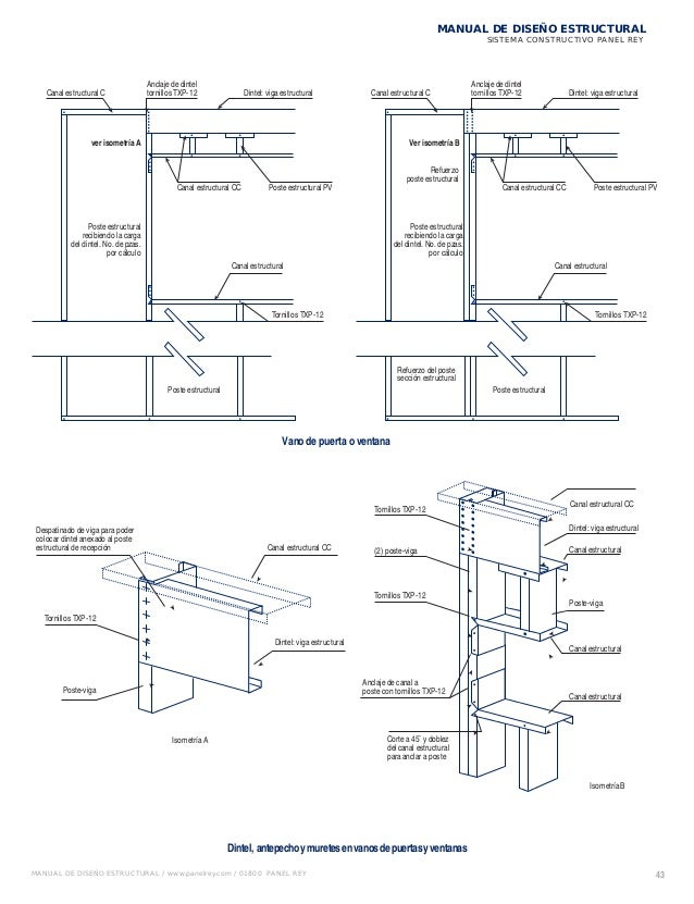 Manual de diseno estructural panel rey