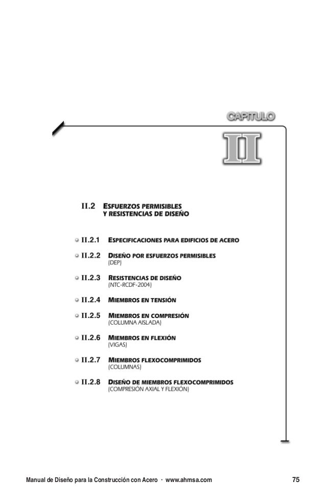 Manual de diseno para la construccion en acero aisc ahmsa for Manual de diseno y construccion de albercas pdf