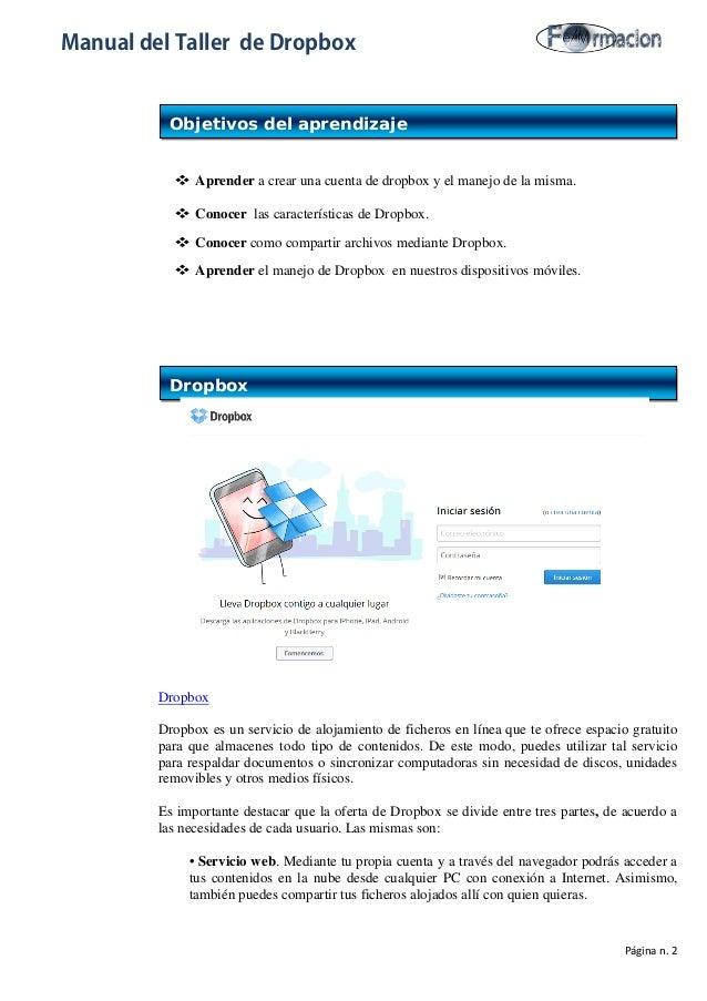 manual de dropbox rh es slideshare net Noticias De Mexico En Espanol manual de uso dropbox en español