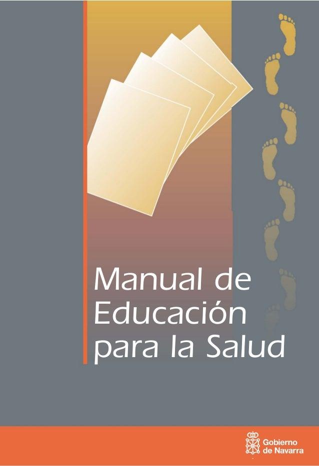 Manual deEducaciónpara la Salud