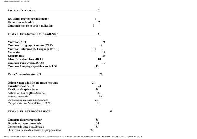 INTRODUCCIÓN A LA OBRAIntroducción a la obra 7Requisitos previos recomendados 7Estructura de la obra 7Convenciones de nota...