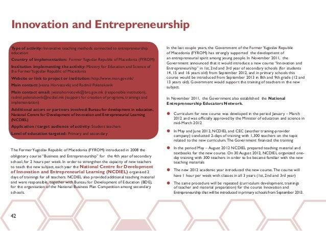 entrepreneurship essay topics An entrepreneurship essay an essay evaluating economic analyses of entrepreneurial behaviour date : 04/03/2015 author information uploaded by : hugh uploaded on.