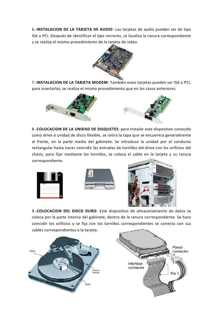 Manual de ensamble de un equipo de computo for Equipo manual de cocina