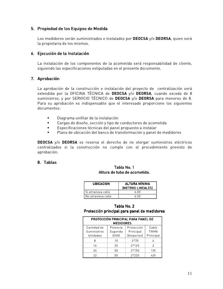 Manual de especificaciones t cnicas de medida for Oficina union fenosa