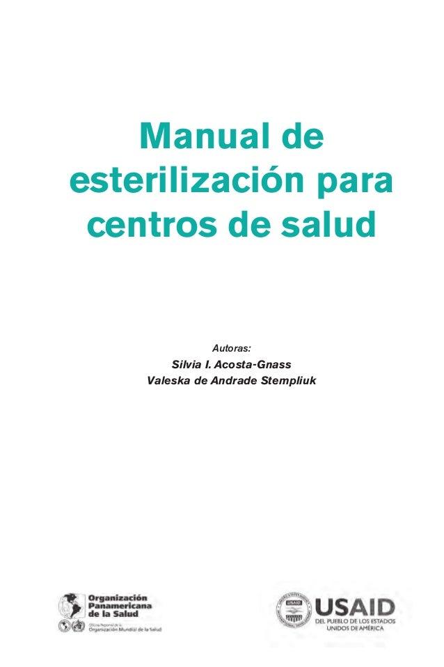 Manual de esterilizaci n para centros de salud - Centro de salud aravaca ...
