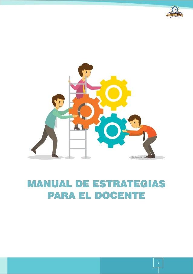 Manual de estrategias para el docente de tutoria Slide 1
