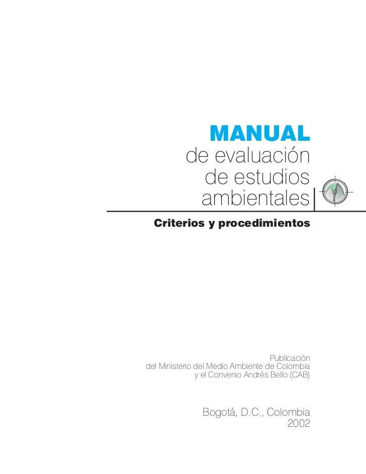 Manual de evaluacion impacto ambiental