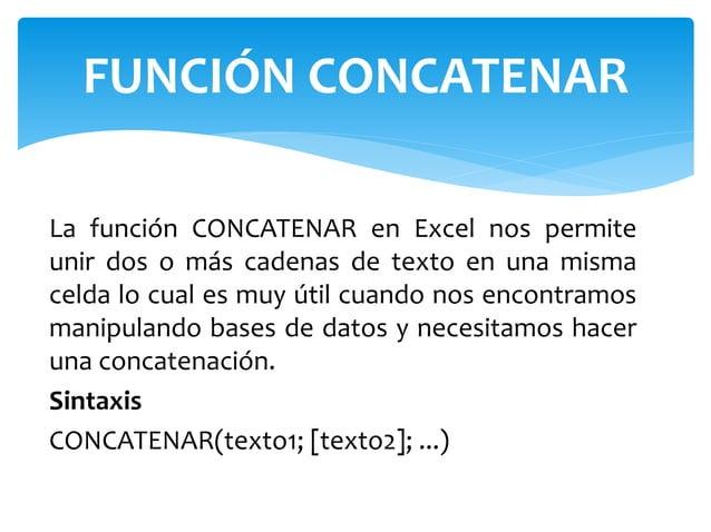 La función CONCATENAR en Excel nos permite unir dos o más cadenas de texto en una misma celda lo cual es muy útil cuando n...