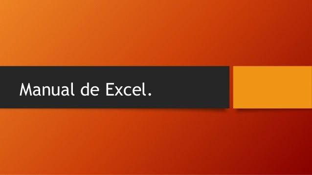 Manual de Excel.
