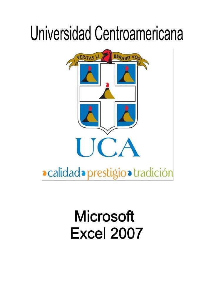 Manual de Microsoft Excel 2007                                                           ÍNDICEIntroducción Excel 2007 ......