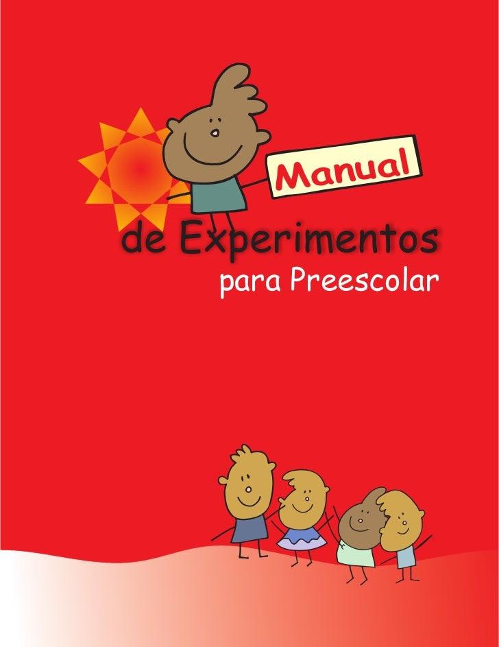 Manualde Experimentos    para Preescolar