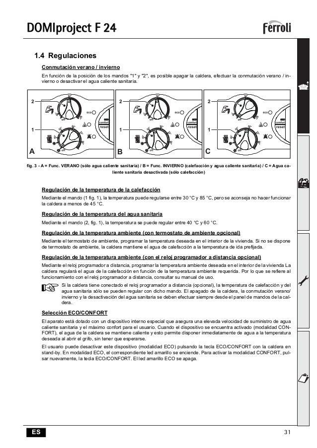 Инструкция ferroli domiproject c24 d