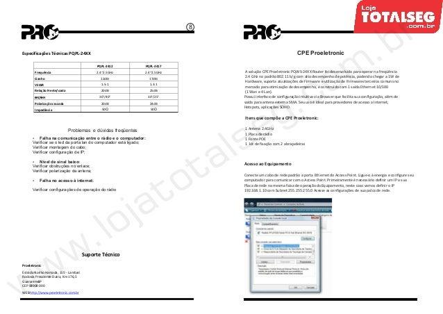 Manual do Usuário do CPE-Wireless Station 2.4 GHz com
