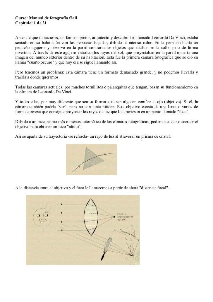 Curso: Manual de fotografía fácilCapítulo: 1 de 31Antes de que tu nacieses, un famoso pintor, arquitecto y descubridor, ll...