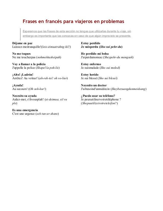 Manual De Frases Basicas En Frances