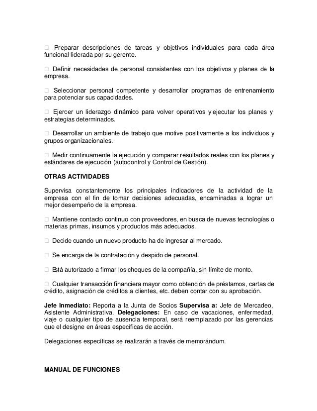 Manual de funciones distribuidora el sabor del cafe for Manual de procedimientos de un restaurante