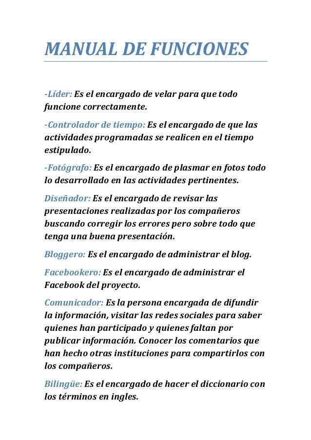 Manual De Funciones Jeyson Franco