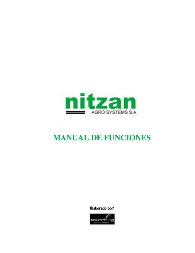 MANUAL DE FUNCIONES Elaborado por: