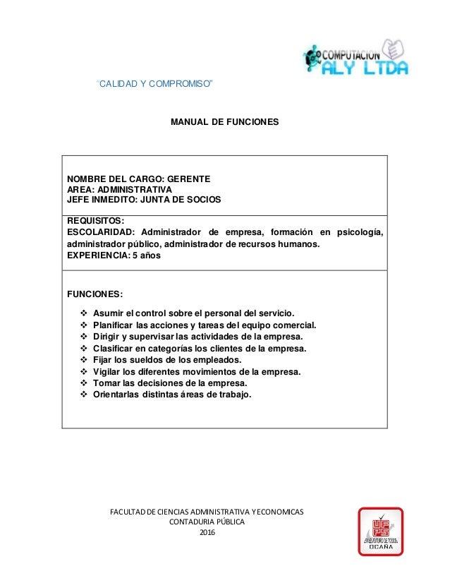 manual de funciones de recursos humanos