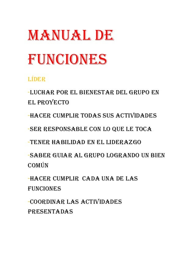 Manual de funciones mozo for Manual de procedimientos de un restaurante