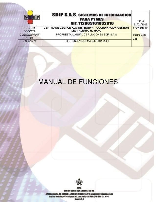 REGIONAL BOGOTA CODIGO:PRMF 1 - 01 VERSION 03  CENTRO DE GESTION ADMINISTRATIVA – COORDINACION GESTION DEL TALENTO HUMANO ...