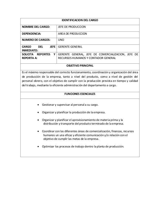 Manual de funciones y procedimientos ejemplos