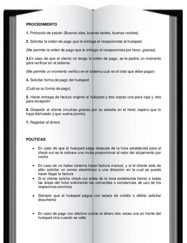 Manual de funciones y proce para caja 1 for Manual de funciones de un restaurante pdf