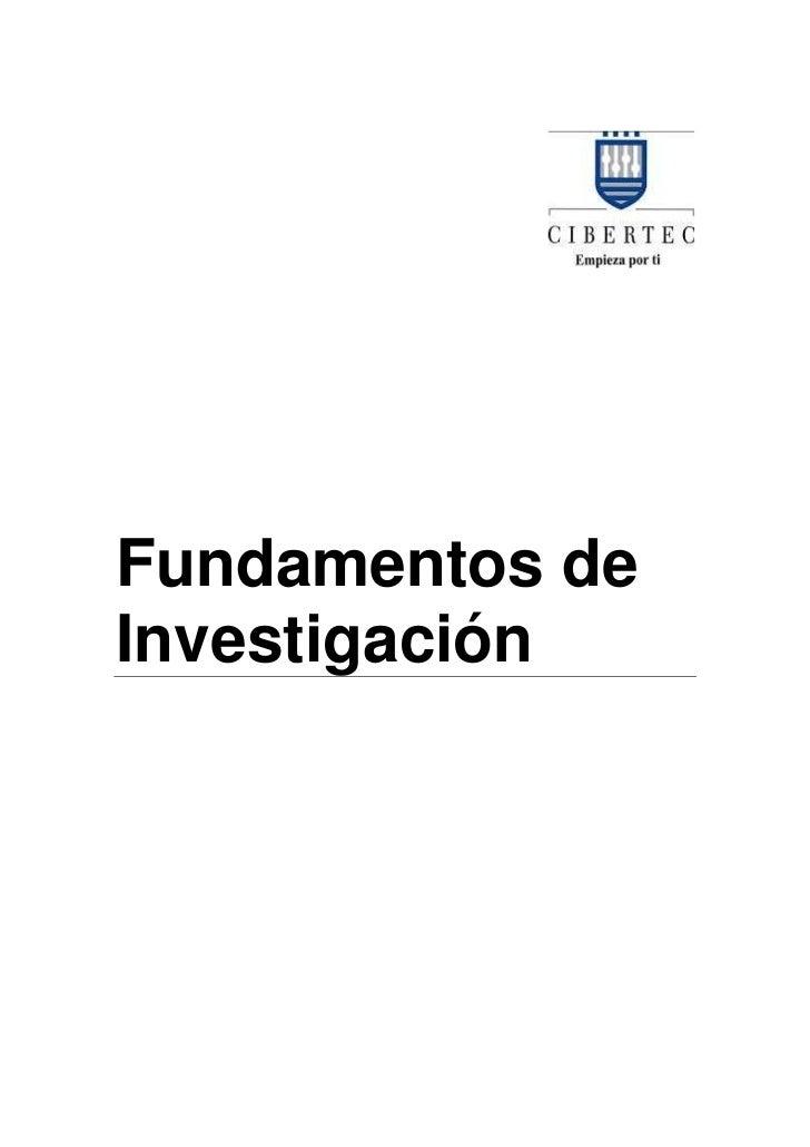 Fundamentos deInvestigación
