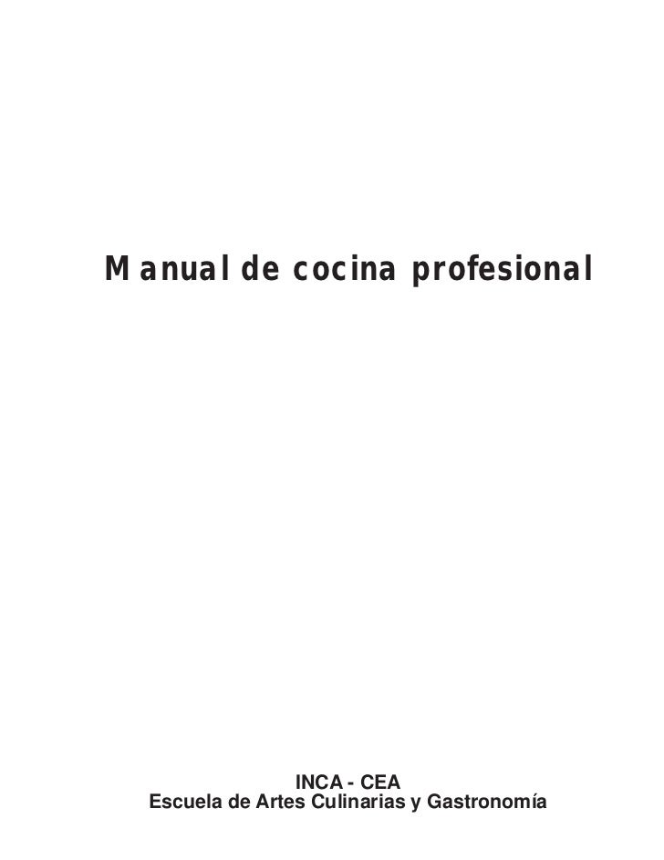 Manual de gastronomia for Manual tecnicas culinarias