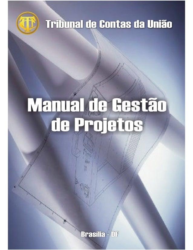 Manual de Gestão de Projetos TCU
