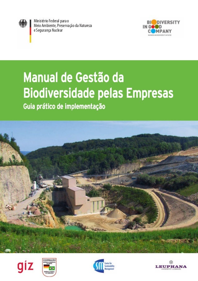 Ministério Federal para o  Meio Ambiente, Preservação da Natureza  e Segurança Nuclear  Manual de Gestão da  Biodiversidad...
