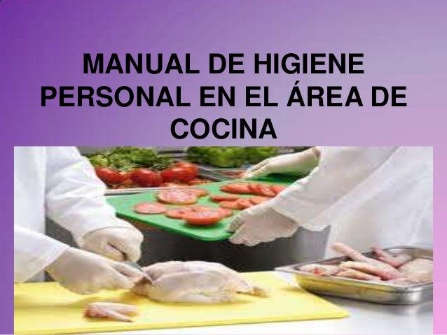 Manual de higiene personal en el rea de cocina for Manual de tecnicas de cocina