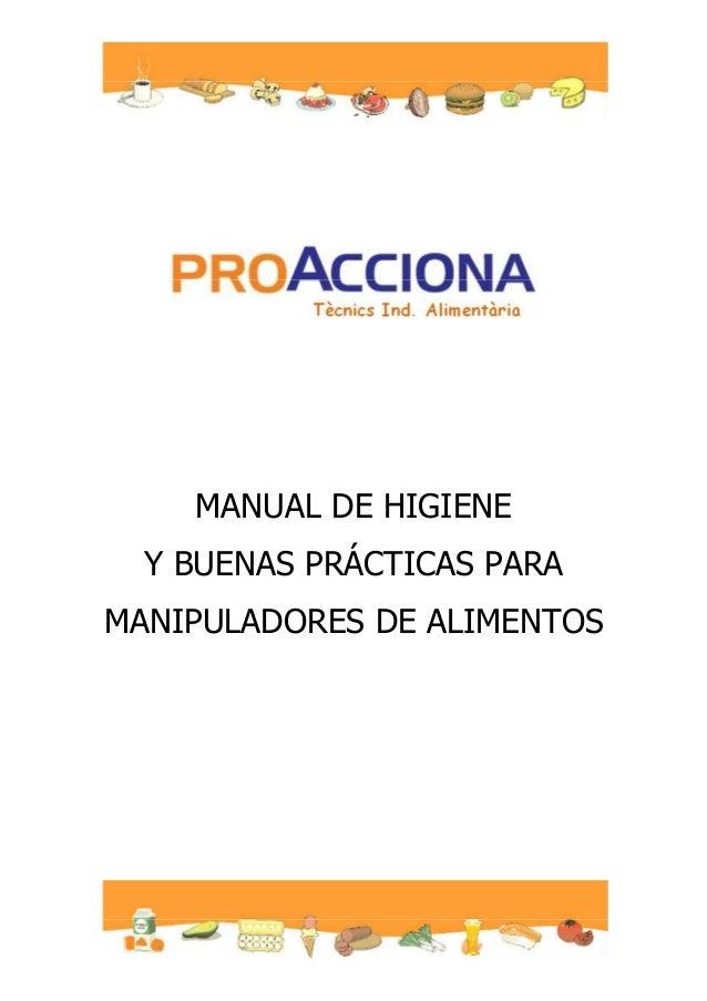 MANUAL DE HIGIENE Y BUENAS PRÁCTICAS PARA MANIPULADORES DE ALIMENTOS