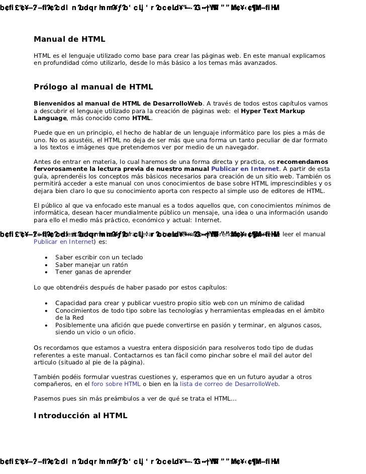 Cambiado con la DEMO VERSION de CAD-KAS PDF-Editor (http://www.cadkas.com).          Manual de HTML          HTML es el le...